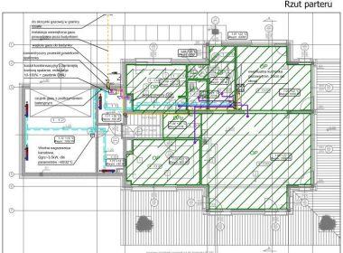 Projekt budowlany – instalacje w domku w Zabrzu